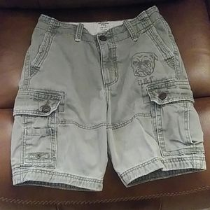 Abercrombie kids army green cargo shorts